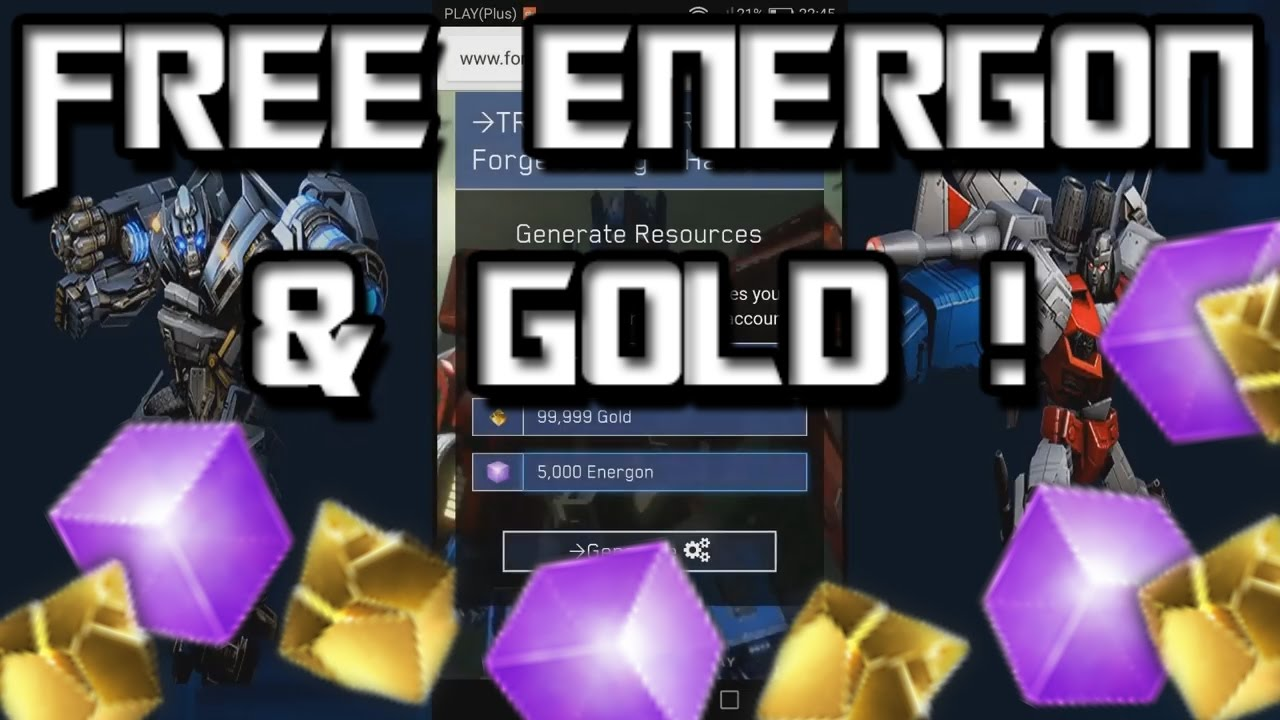 Fresh Update TRANSFORMERS.UPDATEDHACK.COM TRANSFORMER | UNLIMITED Gold and Crystal