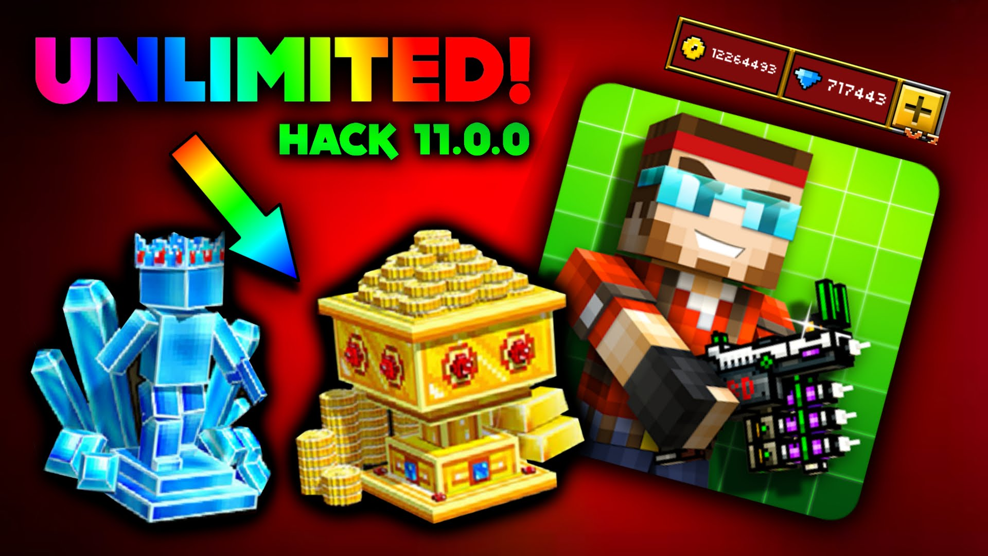 NEW METHOD – GAMESHERO.ORG PIXEL GUN 3D – UNLIMITED Coins and Gems