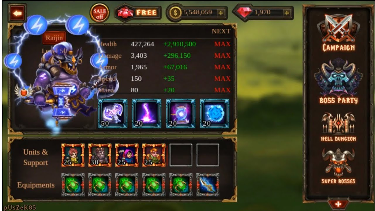 EPIC HEROES WAR – Gems and Money